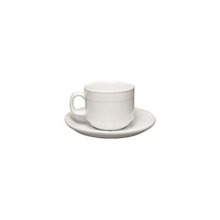 12x Olympia U084 7oz Cup Stacking Tea Cups & Saucers Crockery