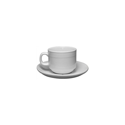 12x Olympia U085 7oz Saucer Stacking Tea Cups & Saucers Crockery