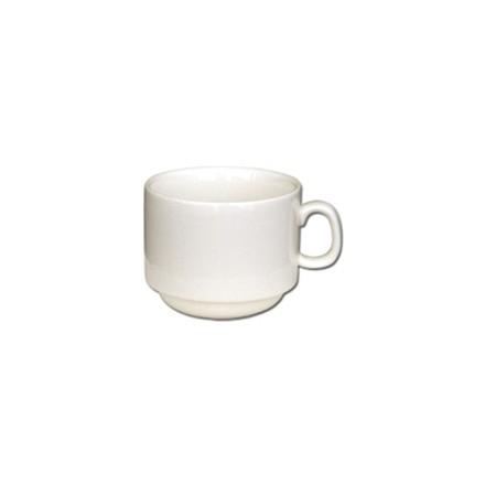 12x Olympia U102 3oz Cup Stacking Espresso Cups & Saucers Crockery