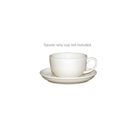 12x Olympia U113 10oz Saucer Cappuccino Cups & Saucers Crockery