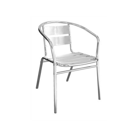 4x Bolera Stacking Aluminium Chairs