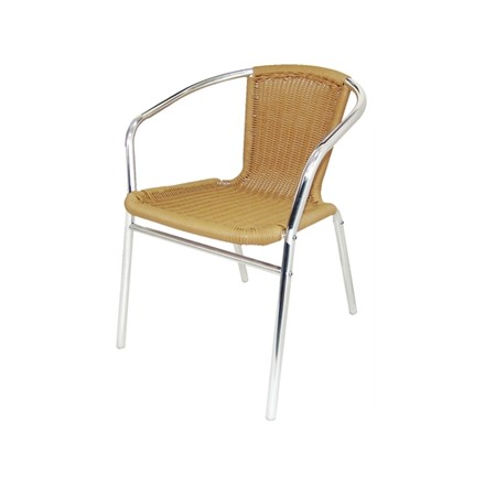 4x Bolera U422  Natural Stacking Wicker Chairs