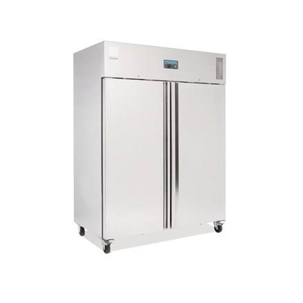 Polar U635 Heavy Duty Double Door Freezer Stainless Steel 1300Ltr