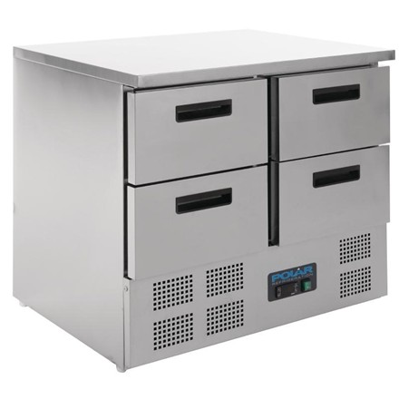 Polar U638 4 Drawer Compact Counter Fridge 240 Ltr