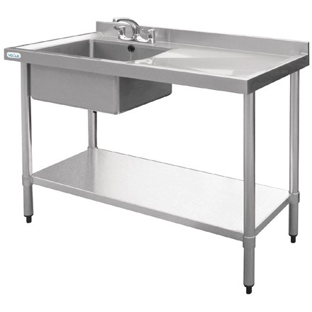 Vogue U904 Stainless Steel Sink Left Hand Bowl 1200x 600mm