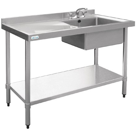 Vogue U903 Stainless Steel Sink Right Hand Bowl 1200x 600mm