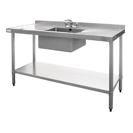 Vogue U907 Stainless Steel Sink Double Drainer 1500mm