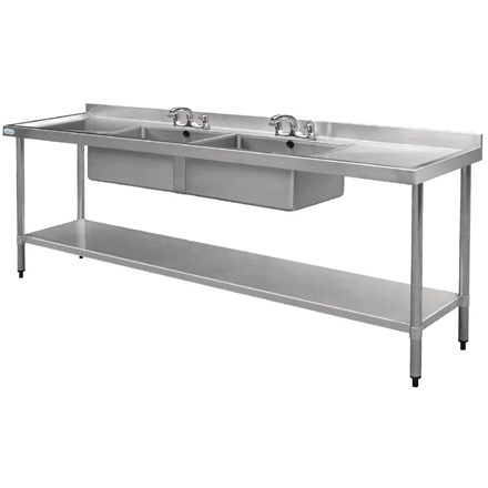 Vogue U910 Stainless Steel Sink - 2400 x 600mm