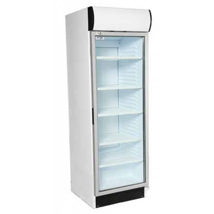 Artikcold VIZ372C Glass Door Display Refrigerator with Canopy