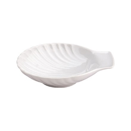 """6x Olympia W420  5""""/130mm Scallop Shell Plates"""