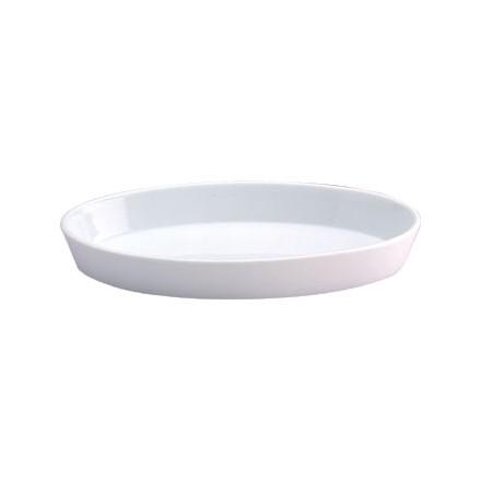 6x Olympia W434 184 x 103 x 28 (H)mm Oval Sole Dishes Crockery