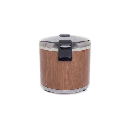 14.2 Ltr/50 Cups Commercial Electric Rice Warmer Wood Grain Restaurant Take Away