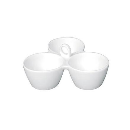 Olympia Y098 180x 180 x 180mm Relish Dish 3 Pot Crockery