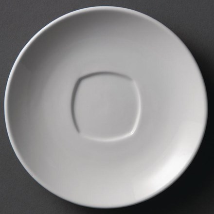 Olympia Y116 Whiteware Rounded Square Saucers 150mm
