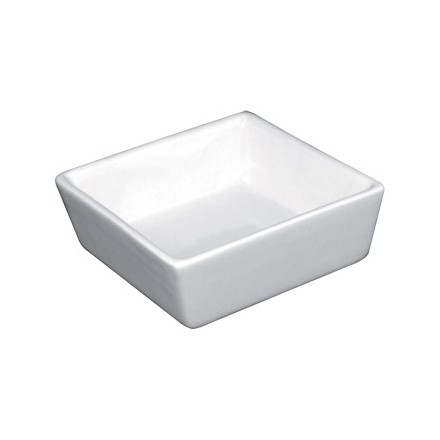 12x Olympia Y729 80x80x35mm Mini Square Dish Crockery