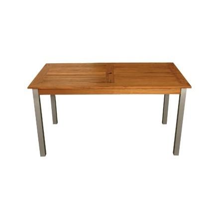 Bolera Y819 Wood & Aluminium Rectangle Table 1400mm