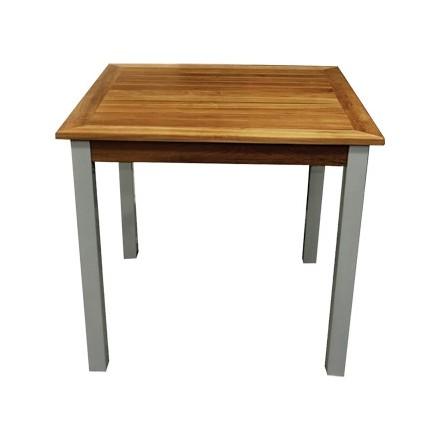 Bolera Y821 Wood & Aluminium Square Table (Pack of 4)