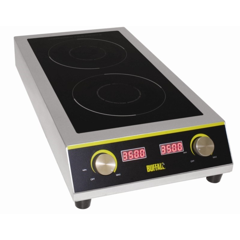 buffalo gf239 7kw heavy duty double induction hob next day delivery. Black Bedroom Furniture Sets. Home Design Ideas