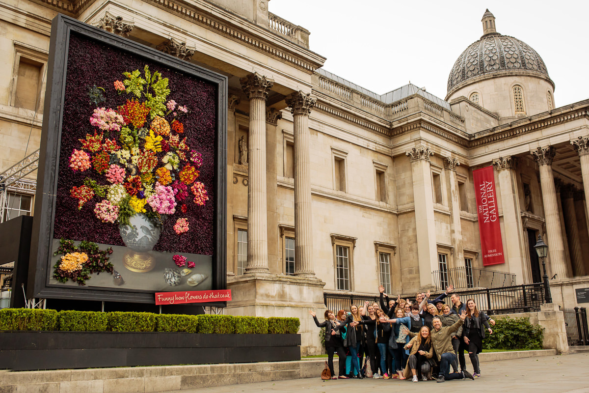 Press event for Flower Council of Holland at the National Museum in London