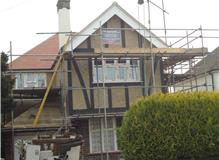 Replacing external renderpebbledash and replacing mock Tudor timbers