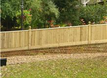 3ft Closeboard  Featheredge fencing with capping and globes