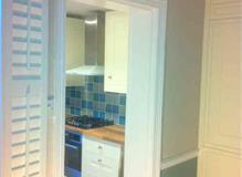Paintinganddecoratingnewkitchenanddiningroom,makinggoodplaster workandpaintingnewdoors