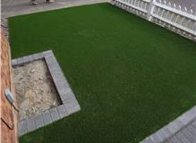 Front artificial lawn garden laid