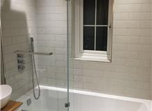 New Bathroom- White Tiling/ Wooden Detail