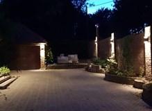 LED lighting around driveway