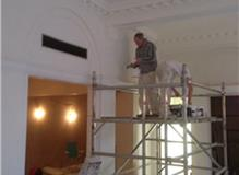Cornice painting, old bank conversion to offices