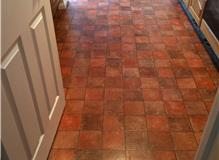New kitchen floor fitted with porcelain tiles 16 sqm