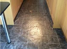 Customer in Dunstable - Kitchen, Utility and Cloakroom floor