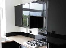 High gloss kitchen installed