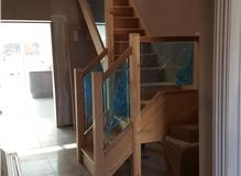 new stair case with glass