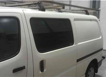 Side window fitted to Toyota Hiace.