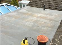 Fiber glass flat roof, flat roof, GRP roofing