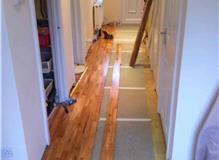 Solid Wooden floor at the beginning of works
