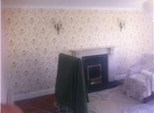 Lounge wallpapering by Johnson and Partners
