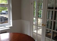 Dining Room and connecting Doors by Johnson and Partners Decorators Addlestone Surrey