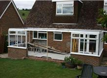 Mid way through constructing Conservatory in Steyning