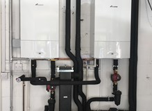 Reconfiguration of System Pipework on twin boiler installation