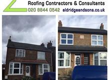 Complete exterior renovation of a pair of cottages in Staines