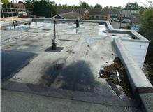 Large flat roof replaced on block of flats.