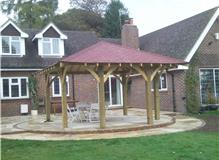 East Grinstead Bespoke Garden Gazebo after construction