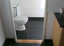 black porcelain floor tiles