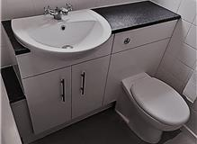 New Built-in Toilet and Basin