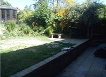 New fencing, landscaping of garden, decking and building of a side shelter