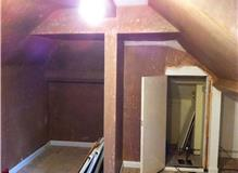 Plastering and decorating of two rooms.