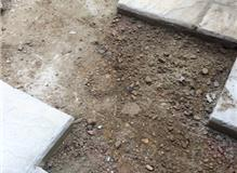 Patio Slabs removed and left safe ready for excavation