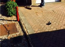 Block Pave Driveway re layed after new drainage installation